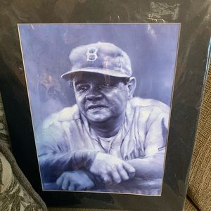 Babe Ruth picture sing by the artist in vintage